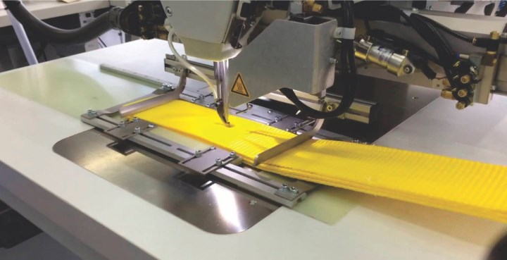 automatic webbing sewing machine
