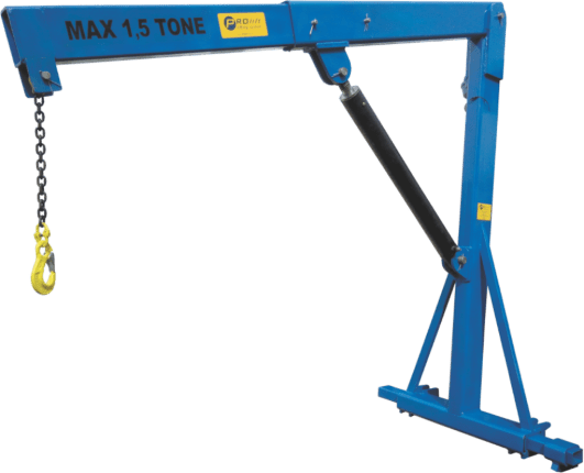 special crane for an agricultural machinery