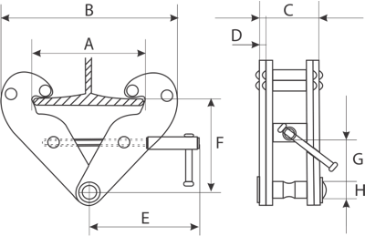 drawing of beam clamp