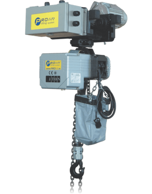 triphasic chain hoist with electric trolley