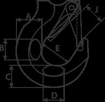 drawing of hoist lifting hook