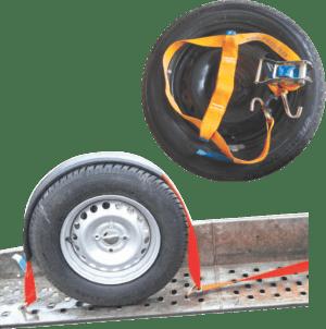 wheels tie down strap