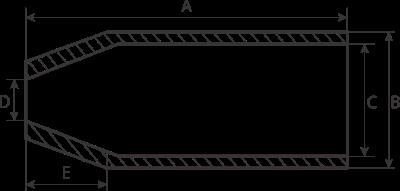 drawing of steel ferrules