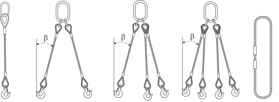 drawing of lifting wire rope sling