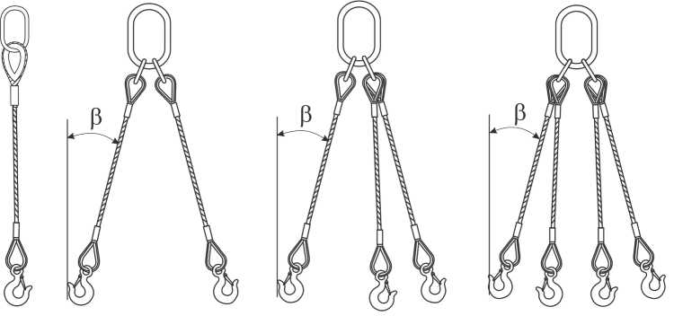 lifting wire rope set drawing