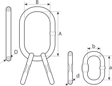 drawing of chain MTC master link assembly