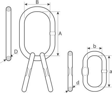 drawing of chain MT master link assembly