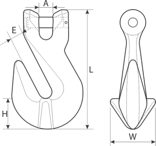 drawing of a shortening clevis hook