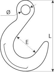 drawing of a foundry hook
