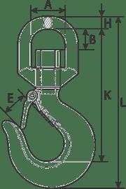 drawing of a swivel hook