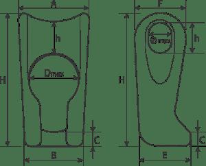 drawing of a Sliding Choker Adjust Element