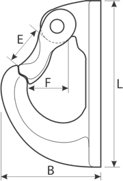 drawing of a Weldable Hook
