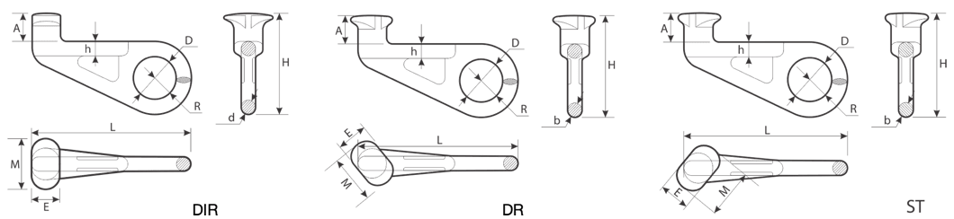 drawing of a Hook for Containers Lifting