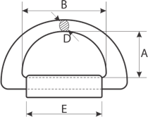 drawing of a forged D-Ring