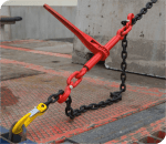 example of Chain Ratchet Load Binder with Safety Pins