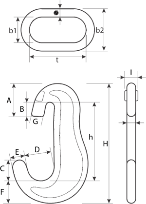 drawing of a Lashing Chain Assembly