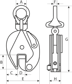 drawing of a universal plate clamp