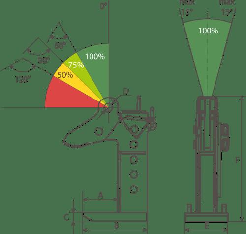 drawing of an adjustable horizontal lifting clamp