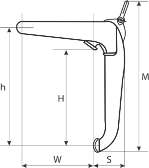drawing of a Clamp for Barrels Lifting