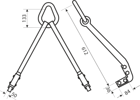 drawing for an Adjustable Pipe Hooks