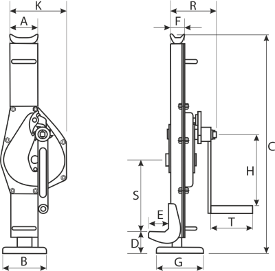 drawing of a rack jack